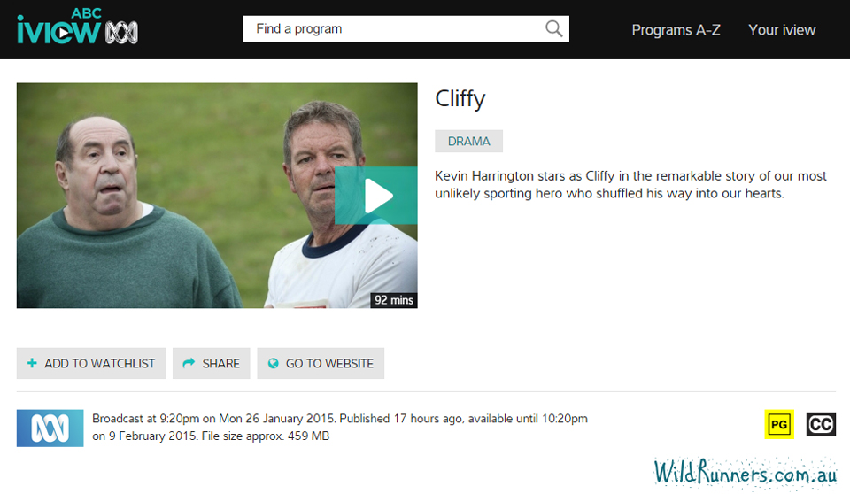 Watch Cliffy - Cliff Young Ultra Runner Wild Runners