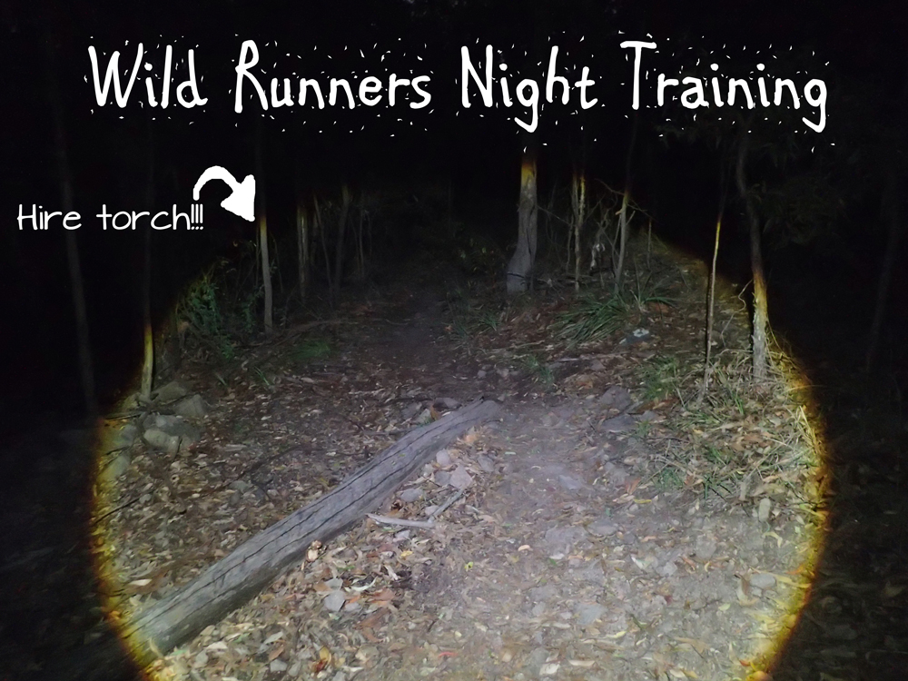 Night Trail Running With Wild Runners. Hire Head Torch