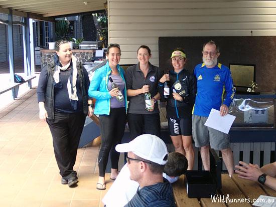 Day two Womens winners.