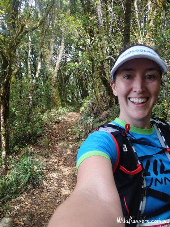 Feeling the running love as I head down the single track.