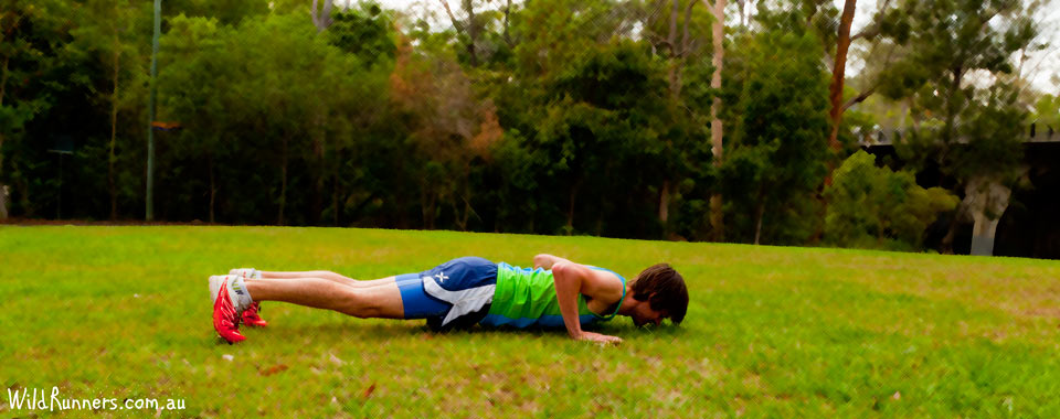 Push up core Exercises for runners with Wild Runners run training