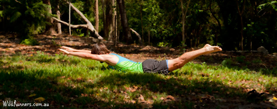 Laying Super Man - Core exercises for runners - Brisbane