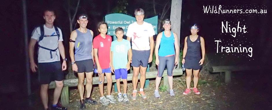 Night Trail Run Training